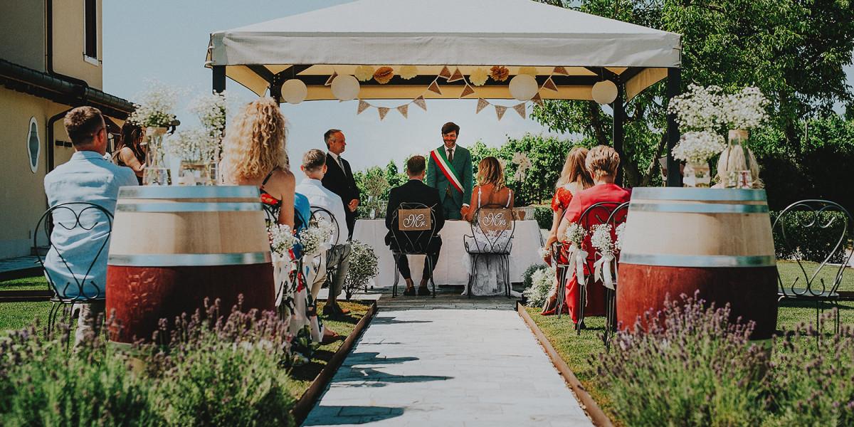 Gosia i Bartek - ślub w winnicy Giusti, Wenecja Euganejska
